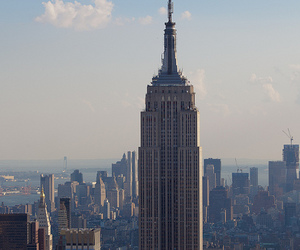 city, new york, and empire state building image