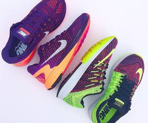 colors, girl, and nike image