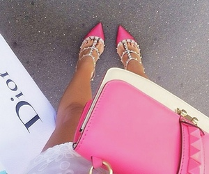 dior, pink, and shoes image