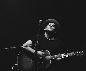 black and white, musician, and concert image