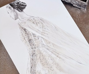 art, drawing, and dress image