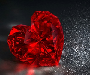 heart, red, and diamond image