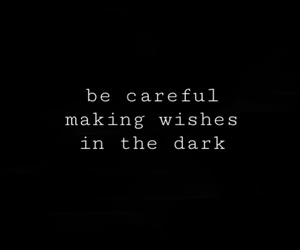 dark and wishes image