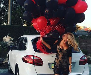 balloons, car, and like image