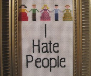craft, cross stitch, and i hate people image