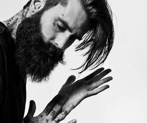 beard, tattoo, and boy image