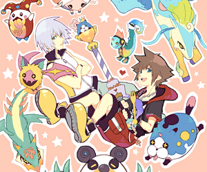 kingdom hearts, riku, and sora image