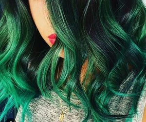 fashion, green, and hair image