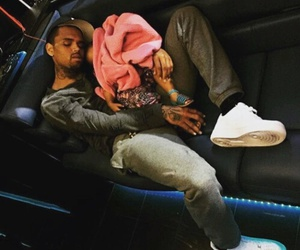 chris brown, royalty, and sleep image