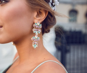 earrings, pretty, and fashion image