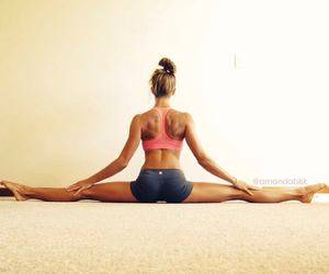 fit, girl, and fitness image