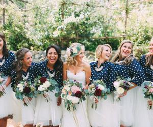 bridesmaids and wedding image