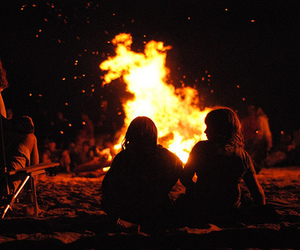 fire, bonfire, and night image