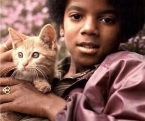 michael jackson, cat, and mj image