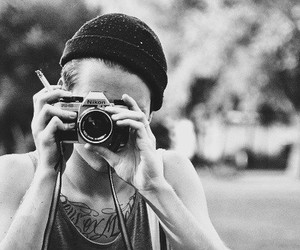 boy, camera, and tattoo image