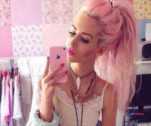pink, hair, and style image