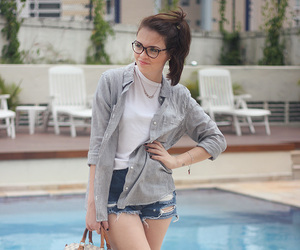 camisa, fashion, and girl image