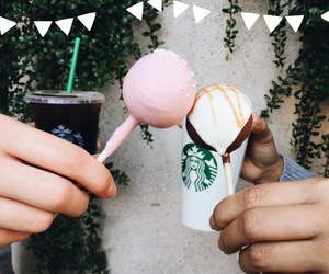 cake, cake pop, and cold brew image