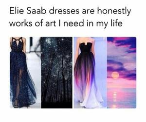 dress, art, and ellie saab image