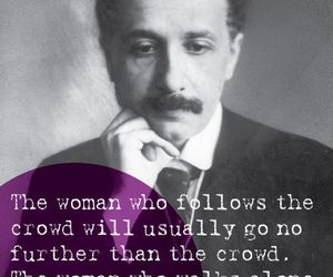 quotes, woman, and crowd image