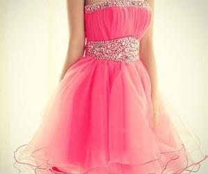 dress, pink, and short image
