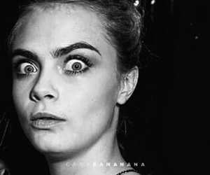 black and white, cara delevingne, and Harry Styles image