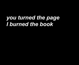 quote, book, and burn image