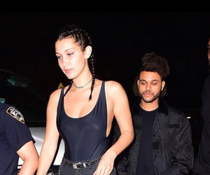 the weeknd, abel tesfaye, and bella hadid image