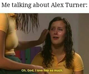 alex turner, fangirl, and arctic monkeys image