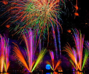 fireworks, colorful, and colors image