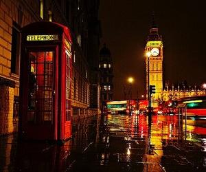 london, night, and light image