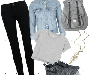 backpack, chic, and grey image