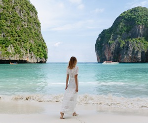 beach, thailand, and travel image