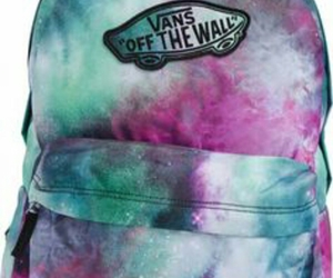backpack, vans, and galaxy image