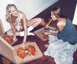 best friends, food, and hungry image