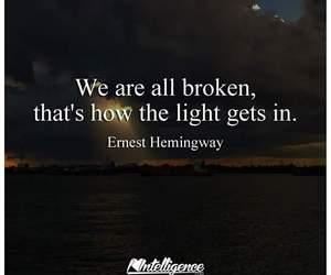 broken and light image