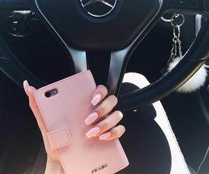 nails, pink, and car image