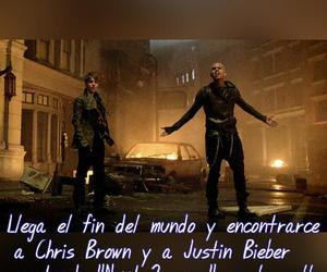 chris brown, justin bieber, and team breezy image