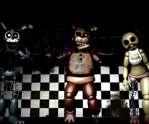 toy, whitered, and five nights at freddys image