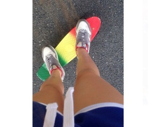nike, rasta, and pennyboard image