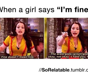 girl, funny, and fine image