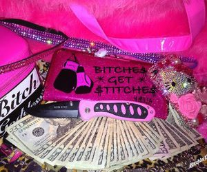 pink, gangster, and hello kitty image