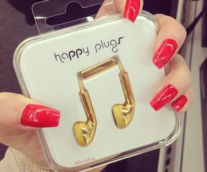 nails, music, and style image