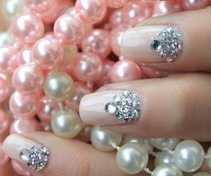 nails, pink, and pearls image