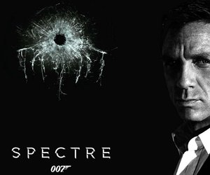 007, black and white, and bond image