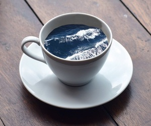 sea, cup, and ocean image