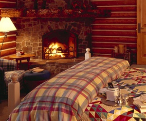 fireplace, cozy, and winter image