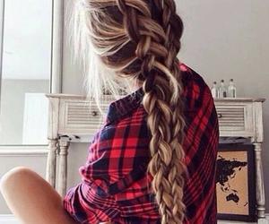 fashion, beautiful, and braid image
