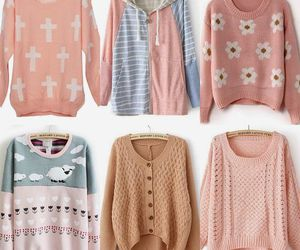sweater, pink, and fall image