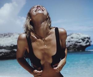 beach, alexis ren, and summer image